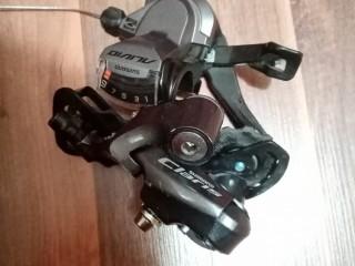 Переключатель задний Shimano Claris R2000 9ск + манетка Shimano Alivio M4000 9ск