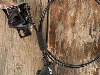 Манетка Shimano SLX M670 2ск + передний переключатель Sram X5
