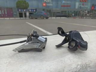 Переключатель передний Shimano Deore M618 + манетка Shimano Deore M610 2/3ск