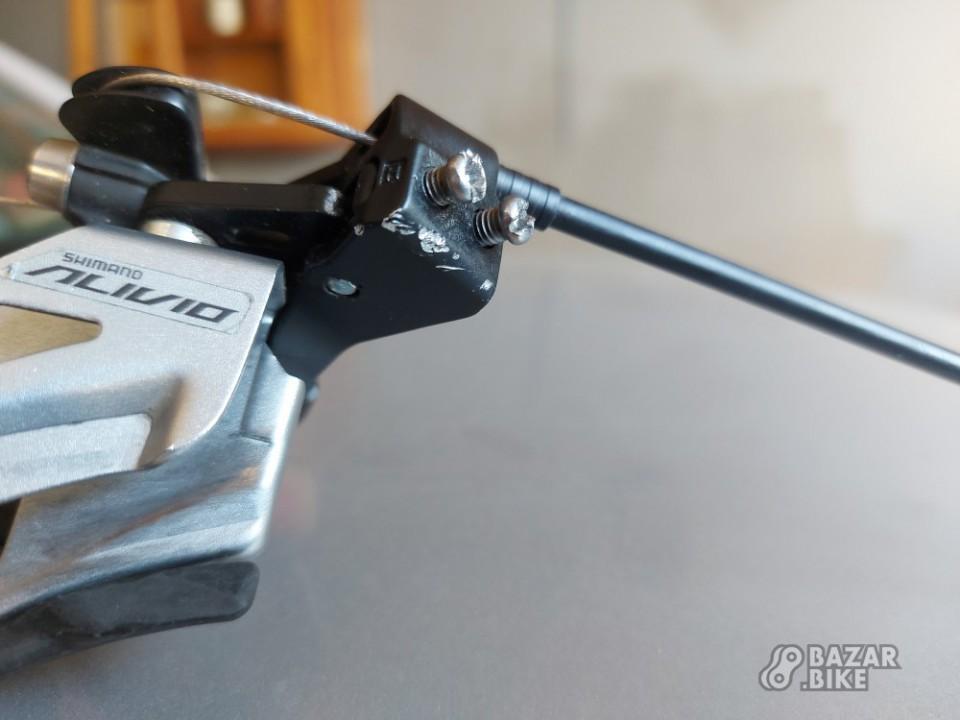 Переключатель передний Shimano Alivio M4020 + манетка Shimano Alivio M4010 2ск