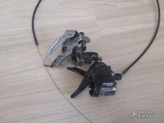 Переключатель передний Shimano Altus 3ск + манетка Shimano Acera