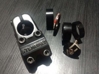 Вынос BMX Stolen Stratos XS 40мм + проставочные кольца + педали Primo
