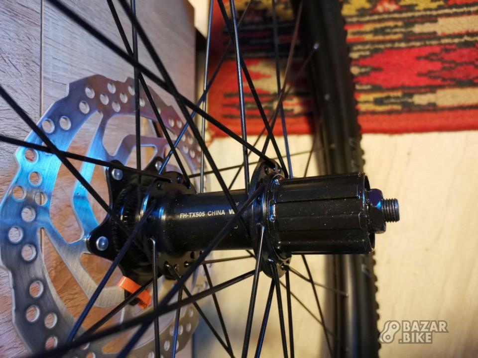 Вилсет 29 Alexrims Comp CC / Shimano Tourney TX505 100×QR/135×QR + роторы Shimano Altus Shimano RT 10-S + покрышки Kenda Slant Six (новый)