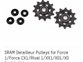 Комплект роликов заднего переключателя Sram XX1/X01/X0 DH/X1/GX