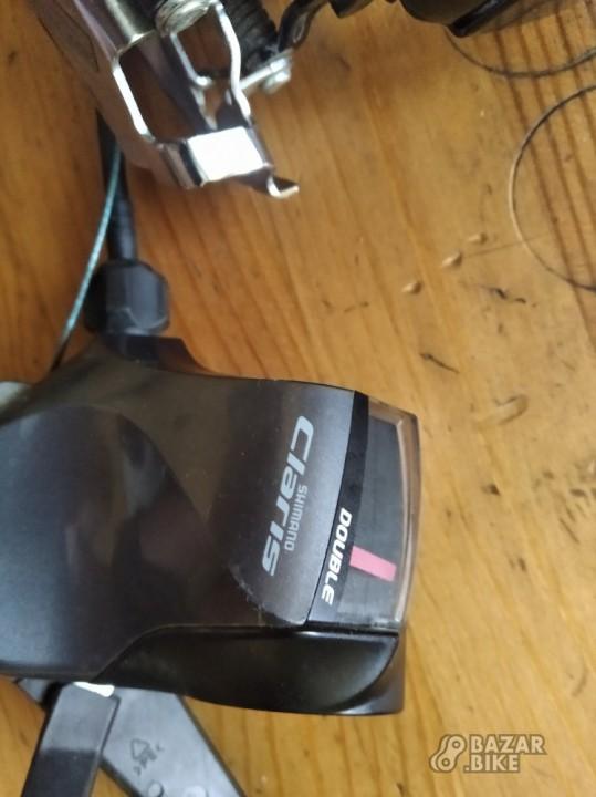 Переключатель передний Shimano Claris 2ск + манетка Shimano Claris