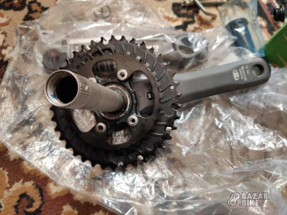 Шатуны Shimano Deore M6000 170мм + каретка + манетка + передний переключатель Shimano Deore M6000 (новое)
