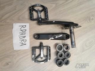 Шатуны Shimano SLX M7000 175мм + педали + каретки
