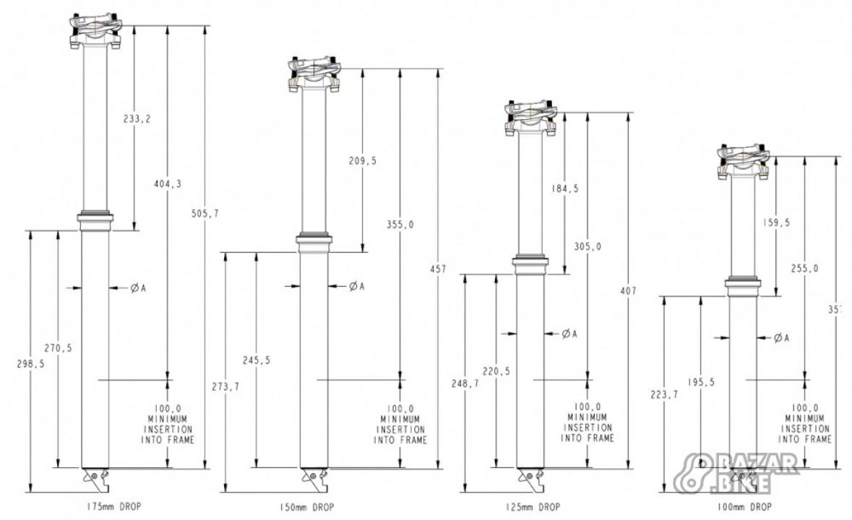 Дроппер Fox Transfer Performance Elite 30,9×125мм (новый)