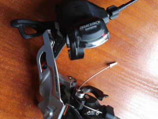 Передний переключатель Shimano Deore FD-M611 + манетка Shimano Deore SL-M610 2/3ск