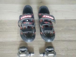 Контактные педали Shimano 105 + велотуфли Time 45