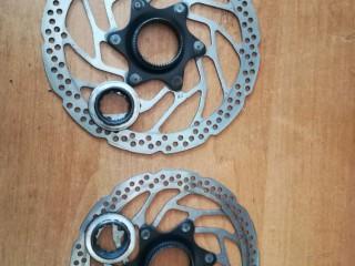 Комплект роторов Shimano Altus SM-RT30 160/180мм Center Lock