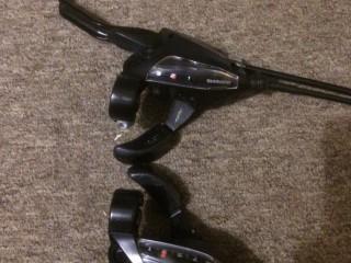 Комплект тормозов Tektro + комборучки Shimano Acera EF500 + роторы