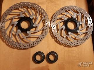 Комплект роторов Shimano SM-RT30 Center Lock 180/160мм