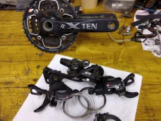 Система шатунов X-ten 10ск + каретка Shimano