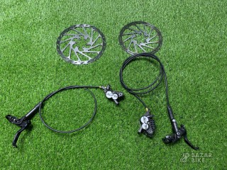 Комплект тормозов Shimano Saint M820 + роторы