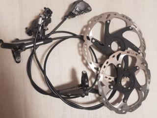 Дисковые тормоза Shimano XTR CT M9000 + роторы Shimano XT-Saint RT81